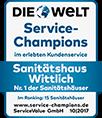Sanitätshaus Wittlich - Nr. 1 der Sanitätshäuser - ausgezeichnet im Kundenservice als Service Champions von DIE WELT